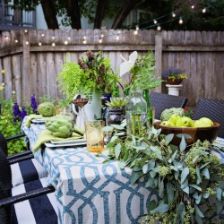A Gorgeous Outdoor Party Table Setting