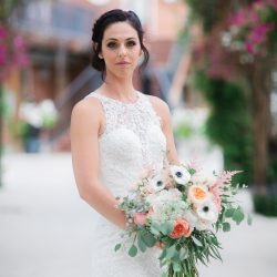 A Beautiful Bride and Her Bouquet