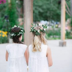 Adorable Flower Crowns On The Flower Girls