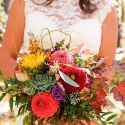 A Stunning Fall Colored Colorado Bridal Bouquet