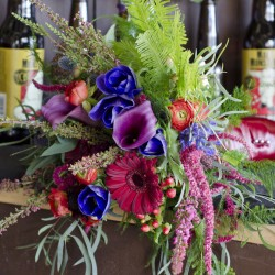 A Colorful Bridal Bouquet Fort Collins by The Talented Designers of Bliss.