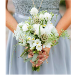 A Bridesmaids Bouquet In Wildflower Style
