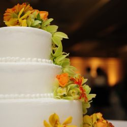 Orchids on Wedding Cake