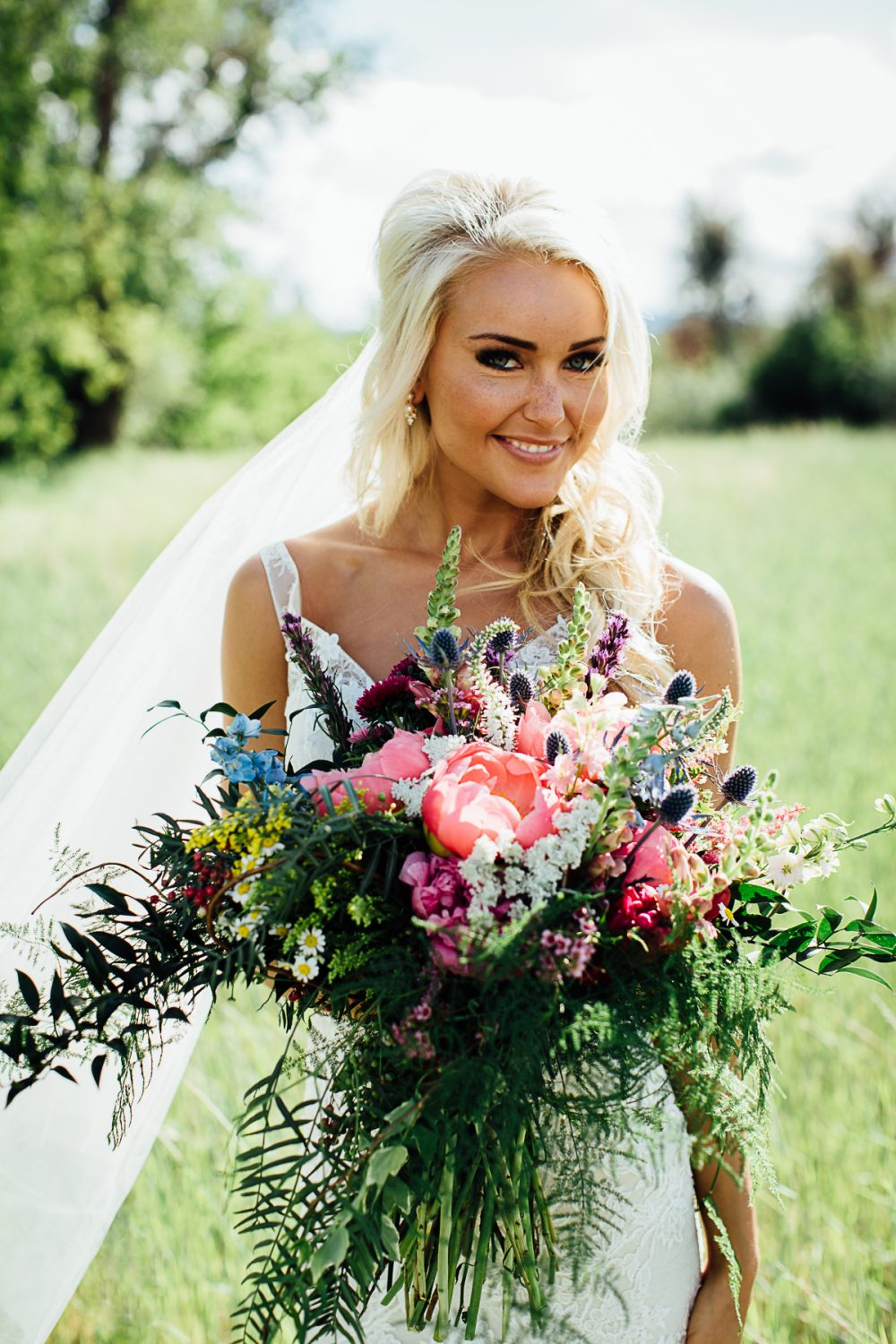 A Gorgeous Bride and Her Bridal Bouquet
