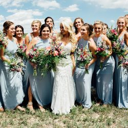 Having fun with their Bliss bridal bouquets.