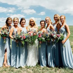 An amazing backdrop for this Colorado wedding party.
