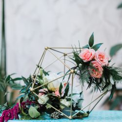 Geometric wedding flowers.