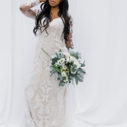 High Style Fort Collins Bride and Bouquet