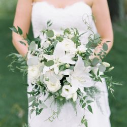 A Gorgeous Green & White Fort Collins Bridal Bouquet