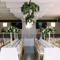 Chandelier Flowers For A Fort Collins Wedding