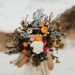 Love This Floral Colors For This Colorado Winter Wedding