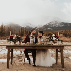 A Bride & Groom Enjoying Their Colorado Wedding