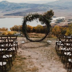 A Stunning Wreath Arch For Rent by Bliss