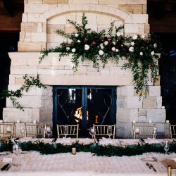 A Gorgeous Mantle Garland by Bliss Wedding Florist