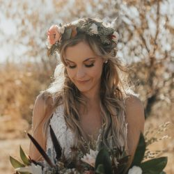 Her Bouquet & Her Hair Flowers Are Perfect