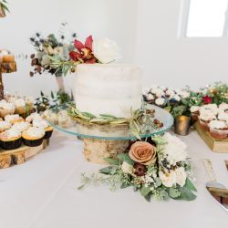 No cake table is complete without flowers.