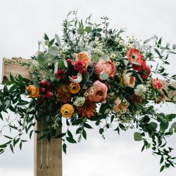 A gorgeous arch floral decorations by Bliss.