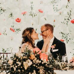 A stunning floral backdrop fort collins wedding florist.
