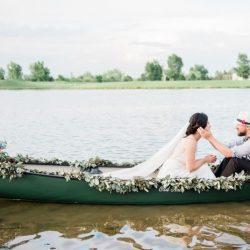 Love in a canoe.