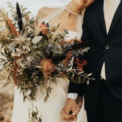 Colorado bride and her flowers.