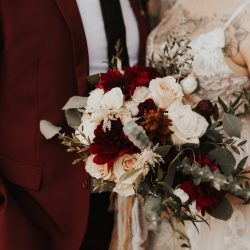 Stunning colors for this bride and groom.