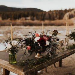 Stunning centerpieces by Fort Collins best wedding florist.