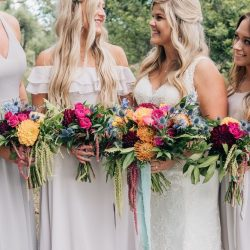 A bride, her gals and their blooms.