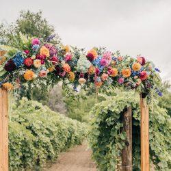Lush ceremony flowers.