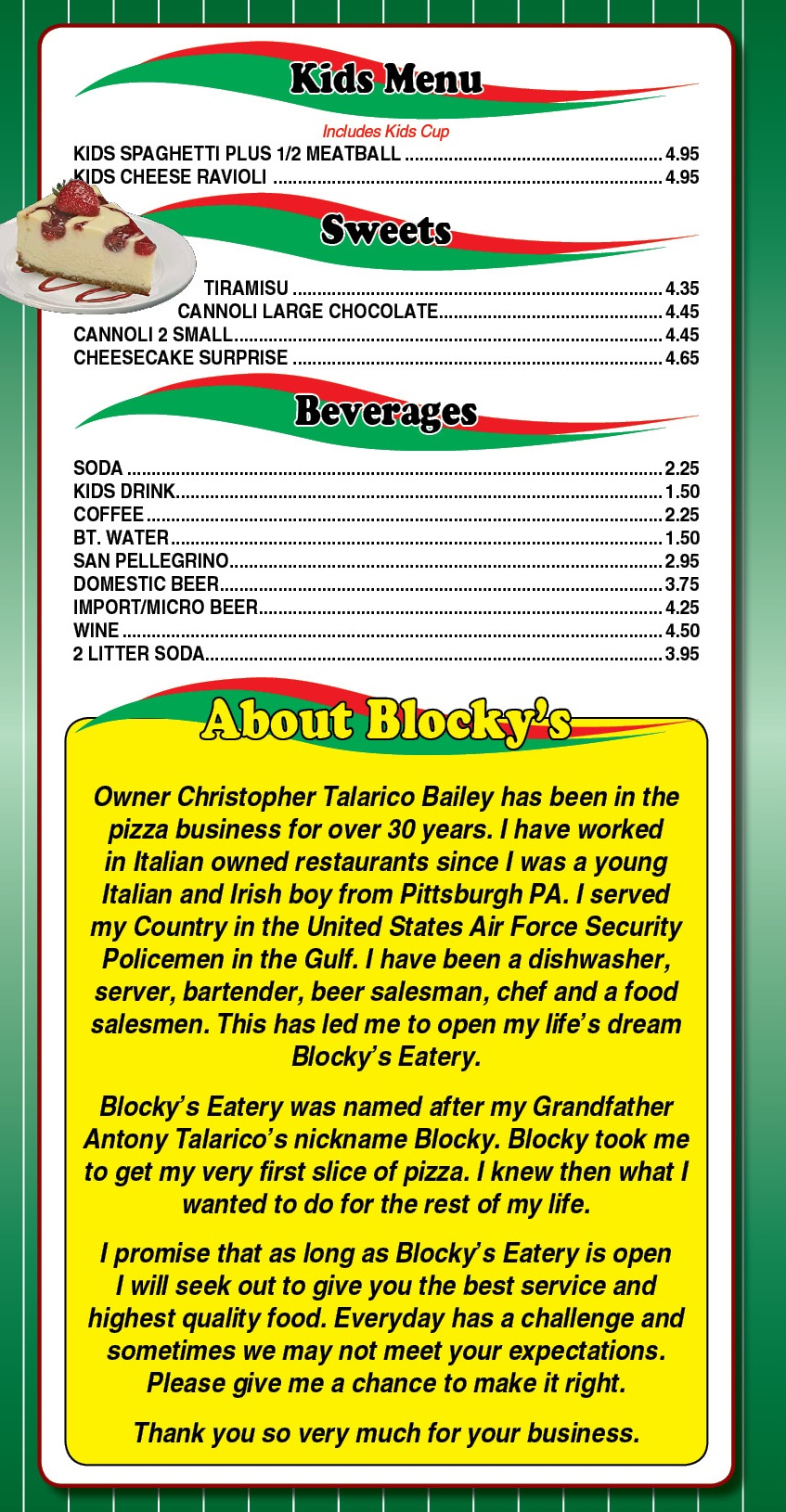 Blocky's Eatery menu4
