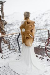 Winter Wedding | Dress and Accessories From Blue Bridal Boutique | Denver Wedding Dresses