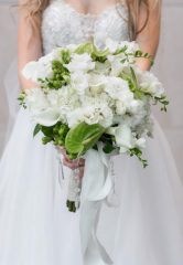 Beautiful Wedding Dress and Bouquet From Blue Bridal Boutique in Denver