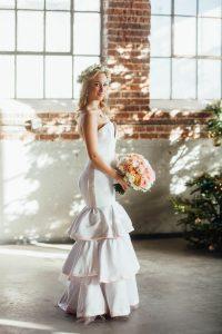 Wedding Dress, Bouquet, and Flowers From Denver's Bridal Shop | Blue Bridal Boutique