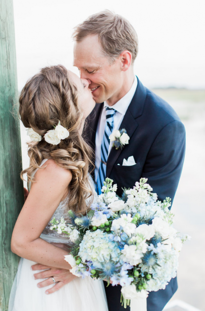 Wedding Dress and Bouquet | Blue Bridal Boutique in Denver