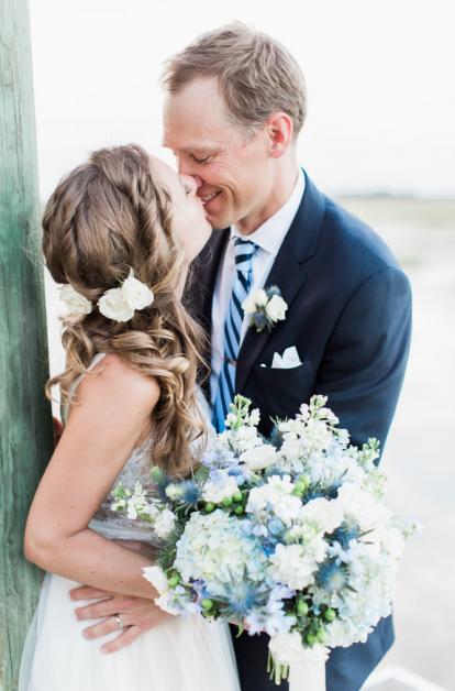Wedding Dress and Bouquet   Blue Bridal Boutique in Denver