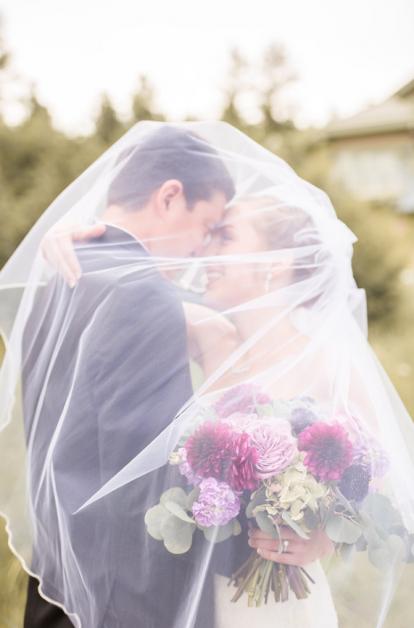 Wedding Dress and Veil | Blue Bridal Boutique | Denver Bridal Store