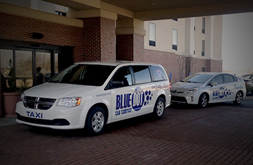 blue dot cab company vehicles
