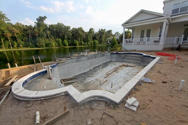 pool construction time frame