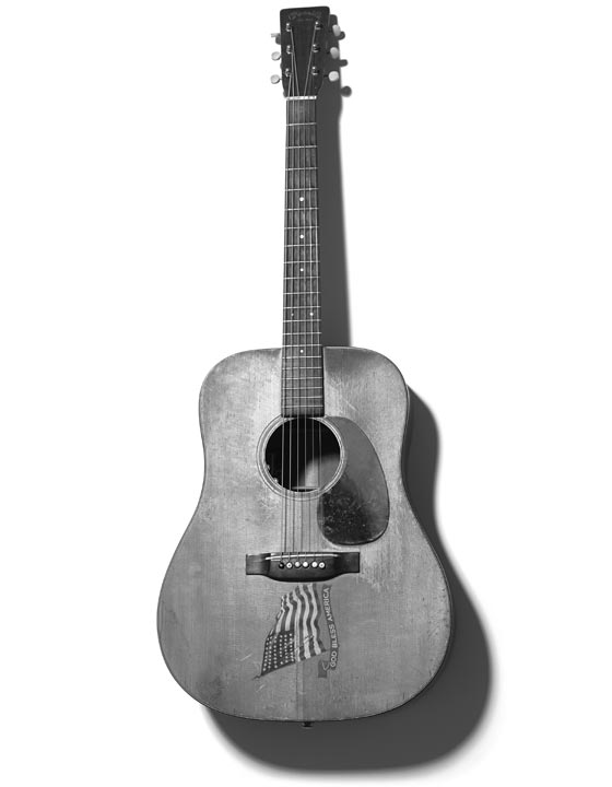 Meet Hank, Dave's trusty Martin acoustic