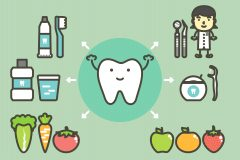 Healthy tooth graphic