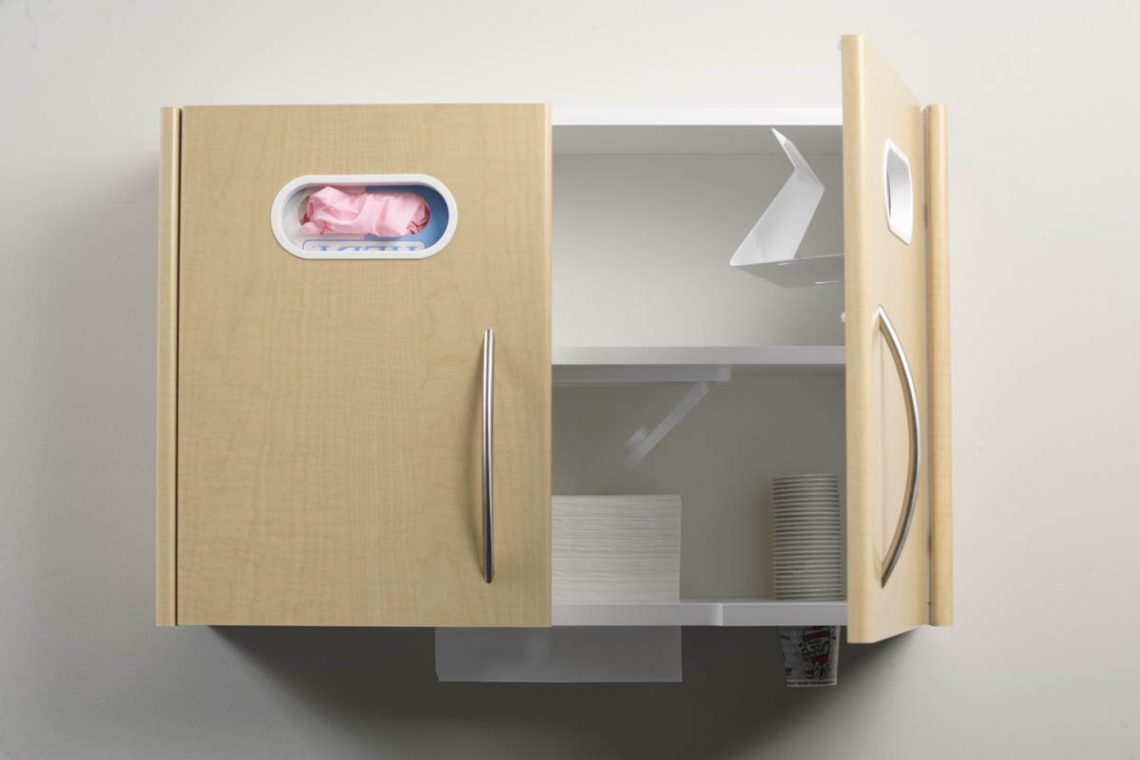 Glove Cup And Towel Dispenser Cabinet System Add Ons For Dental Offices Bow Wood Cabinet