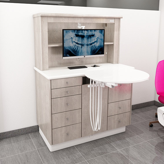 Hutch Cap For Rear Support Dental Office Cabinets Configure To