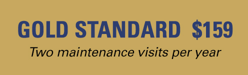 Gold Standard Annual HVAC Plan $159 / year. Two maintenance visits per year.