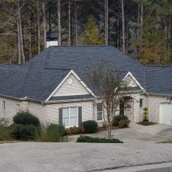 A professional roof installation by Bullard Roofing company in Blountsville.