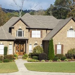 A residential roof in Blountsville from Bullard Roofing.