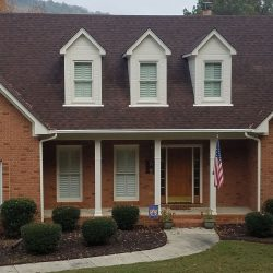 A beautiful roof replacement by Bullard Roofing company in Blountsville.