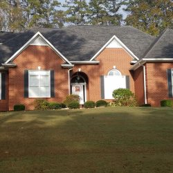 A modern roof replacement from Bullard Roofing company in Blountsville.