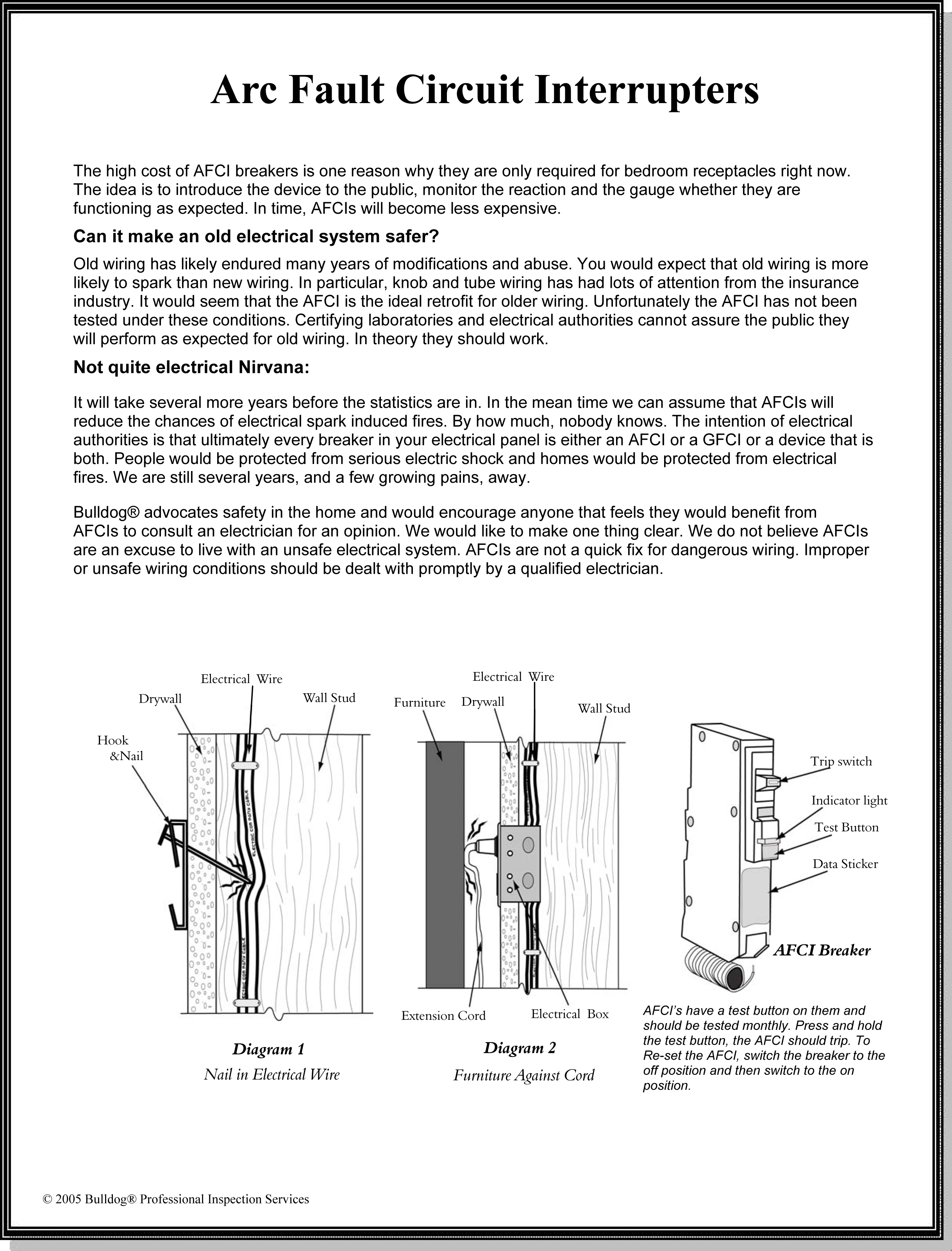Arc Fault Circuit Interrupter Installation Afci Breaker Wiring Diagram
