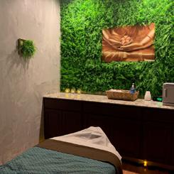 Beautiful massage treatment room