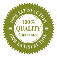 100% quality guarantee - 100% satisfaction seal for Buzz Off Mosquito Solutions in Shawano Wisconsin