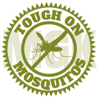 Tough on mosquitoes seal for Buzz Off Mosquito Solutions in Neenah Wisconsin
